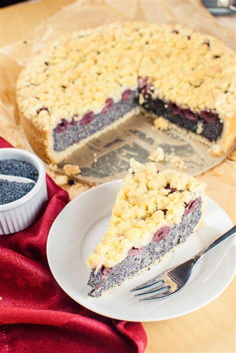 Kirsch Mohn Kuchen Mit Streuseln Vegan Kaffee Cupcakes