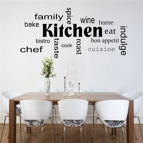 Word For Kitchen by Kitchen Words Phrases Wall Sticker Room Lounge Quote Decal