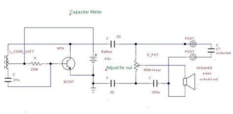 capacitance meter circuits david s capacitor meter project