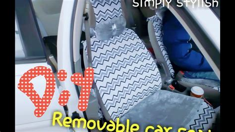 easy diy car seat cover diy washable and removable car seat cover