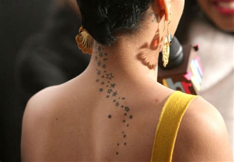 rihanna star tattoo neck images designs