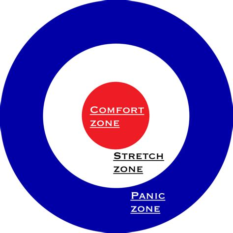 comfort zone stretch zone panic zone the art science of transformational experience