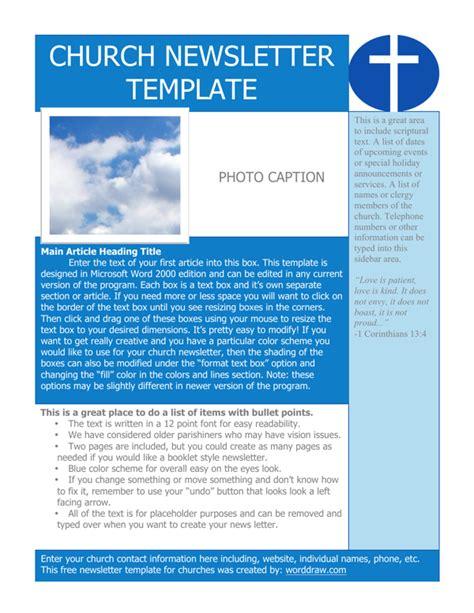 free church newsletter template church newsletter template for free formtemplate
