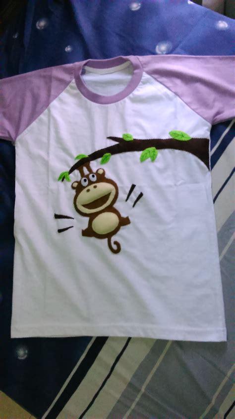 Kaos Polos Putih Bahan Catton Combed 4 raglan putih ungu muda monyet flabers