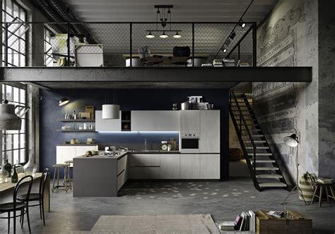 industrial look industrial style in kitchen design snaidero