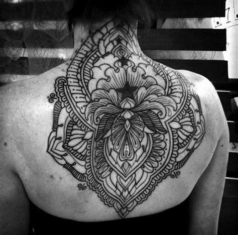 mandala tattoo back 24 mandala neck tattoos