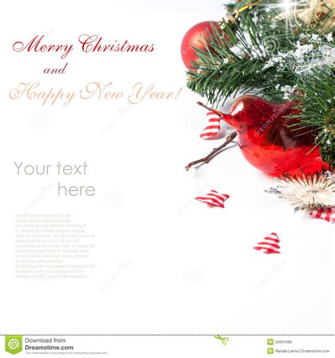 christmas card with red bird stock photo image 33391696