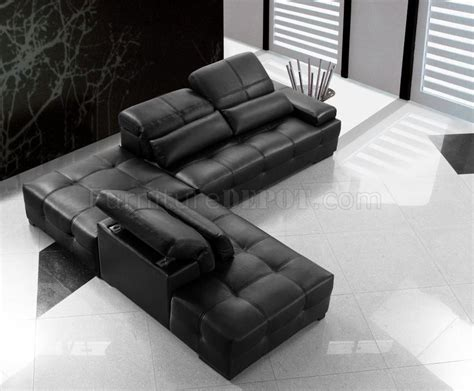 Tufted Leather Sectional Sofa 0668a Black Tufted Leather Modern Sectional Sofa