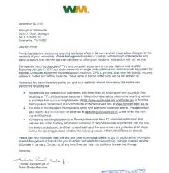 Waste Management Cover Letter by Home Sellersville Borough