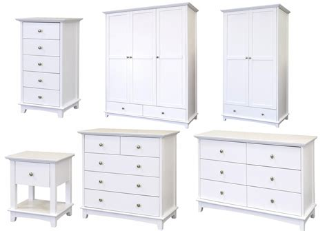 Toulouse Bedroom Furniture White Toulouse White Painted Bedroom Furniture Bedside Chest Of Drawers Wardrobes Ebay