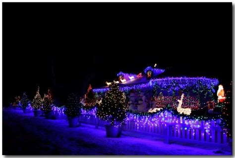 5 photos of the christmas light display on lenwood in