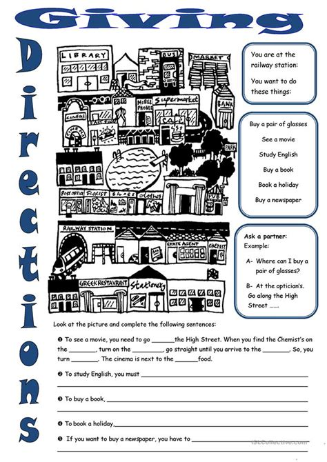 printable worksheets giving directions giving directions worksheet free esl printable