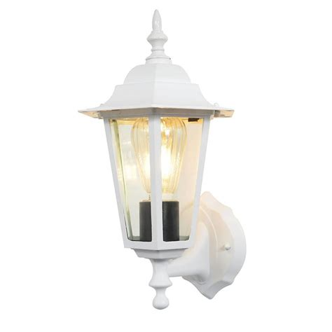white outdoor wall lantern arun 1 light outdoor wall light white from litecraft