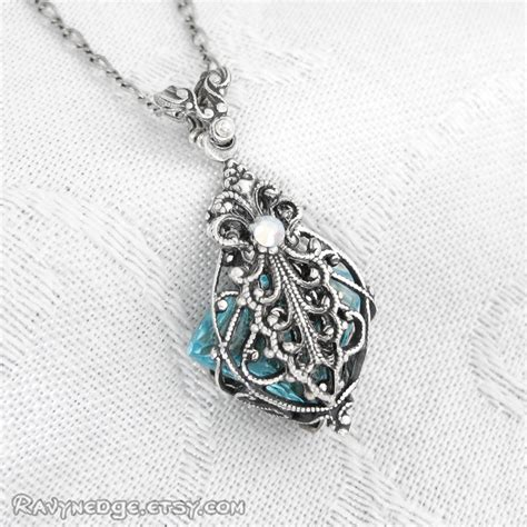 potion no 9 necklace silver filigree pendant by