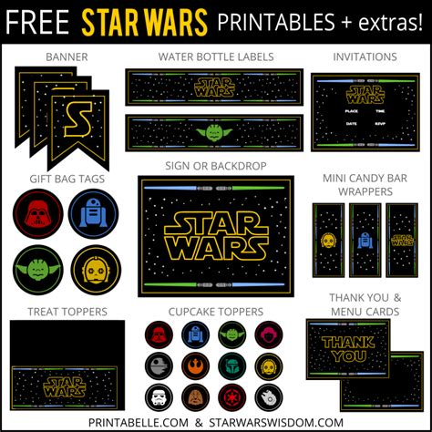 printable pictures star wars free star wars party printables extras free party