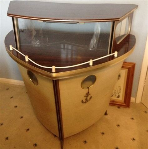 boat house drinks 1950s vintage nautical boat retro drinks storage cabinet
