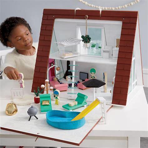 land of nod doll house land of nod dollhouse modern a frame dollhouse modern dollhouse for kids