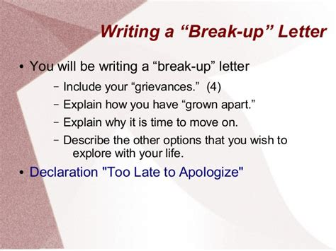 how to write a breakup letter to a friend declaration of independence