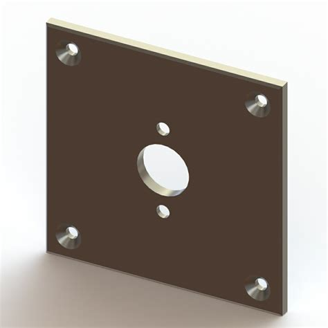 Shower Fixing Plate by Square Fixing Plate Suitable For Sh07 040 Dart Valley