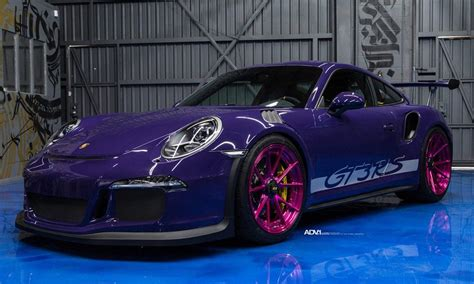 pink porsche 911 ultraviolet purple porsche 911 gt3 rs upgraded with pink