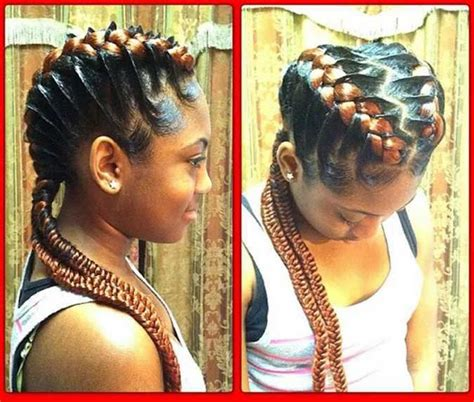 hairstyle natural hair braided updo different types of