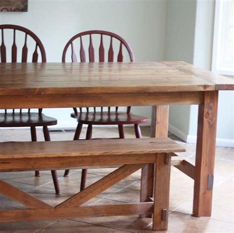 farmhouse table bench plans  time