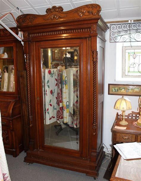Antique Armoires Wardrobes - antique fancy oak wardrobe armoire with length