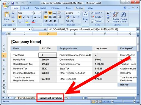 How To Prepare Payroll In Excel 5 Steps With Pictures Wikihow Access Payroll Database Template