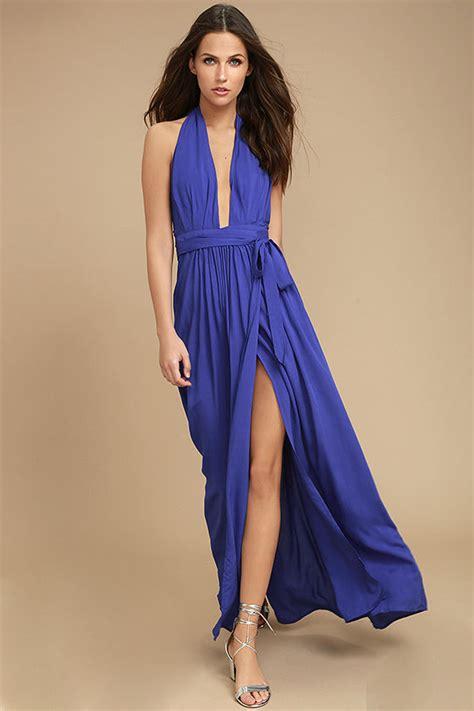 Dress Wanita Maxi Royal Balotelly lovely royal blue dress maxi dress wrap dress 49 00