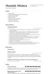 technology analyst resume sles visualcv resume