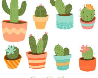 Cute Cactus Pots overlay clipart clipart panda free clipart images