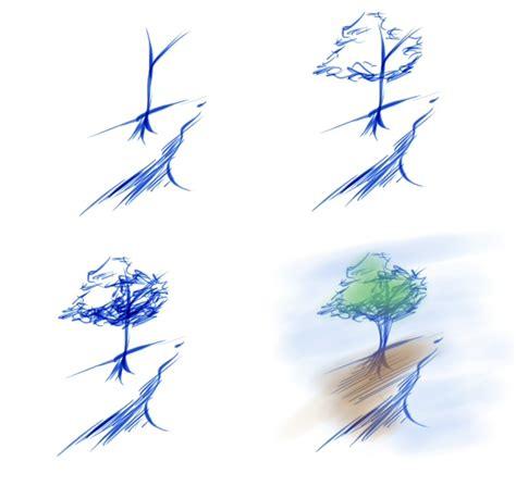 como hacer un bosquejo bosquejo de un arbol by drantyno on deviantart