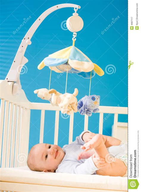 baby on crib royalty free stock photography image 4687117
