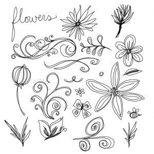 easy doodle flowers easy pictures to draw of flowers www pixshark