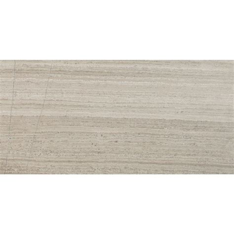 msi gray oak 12 in x 24 in honed marble floor and wall