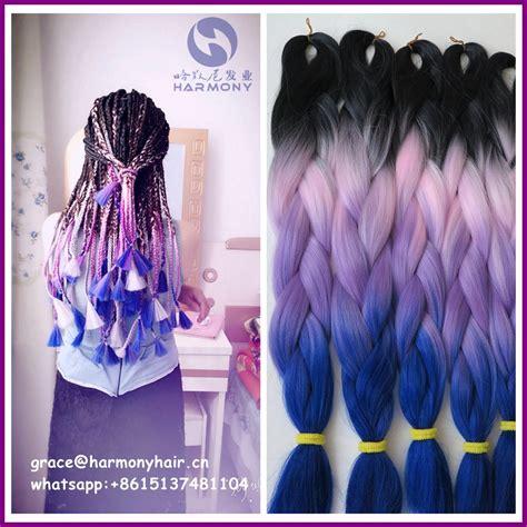 buy  shipping packs   crazy fantasy lilac lavender ombre braiding