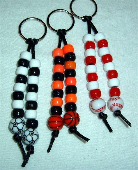 pony bead keychains items similar to sport pony bead bead keychain zipper