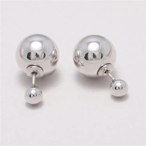 Sided Earrings sided earrings silver stud earrings by