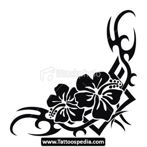 tribal hibiscus flower tattoo designs hawaiian tribal designs pin tribal hawaiian