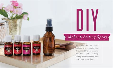 diy makeup setting spray living