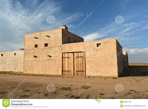 adobe style old west military fort stock photo image