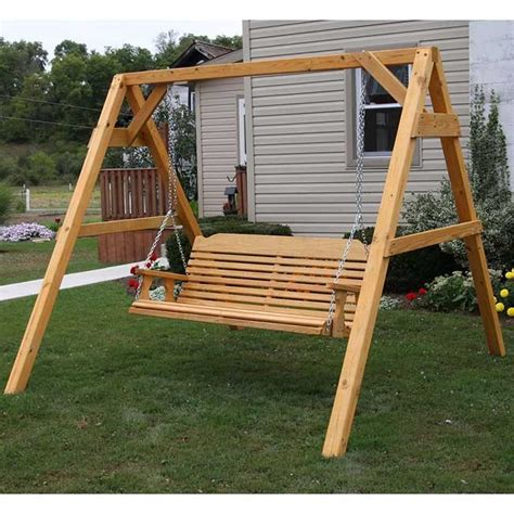 wooden swing sets for adults centerville amish heavy duty 700 lb classic adult porch