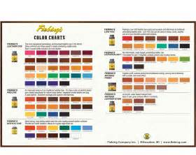 color guide fiebing leather dye color chart