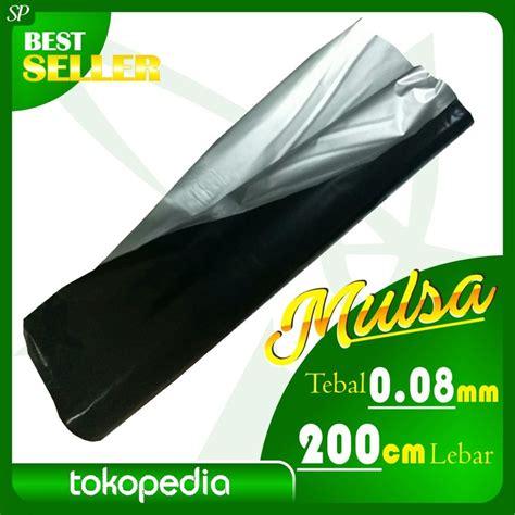 Plastik Kemasan Tebal plastik mulsa hitam perak tebal 0 08mm lebar 200cm