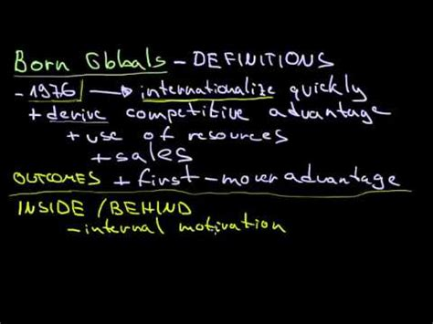born definition of definition of born globals youtube