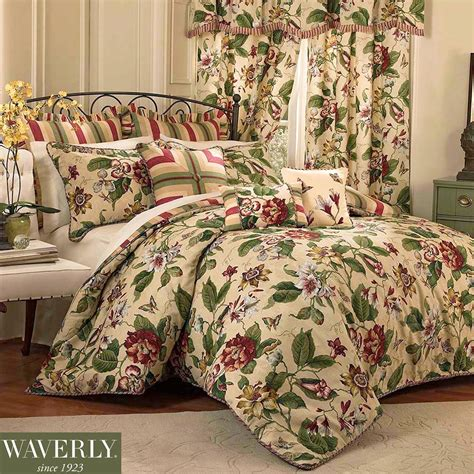 Flowered Comforters laurel springs floral comforter bedding by waverly
