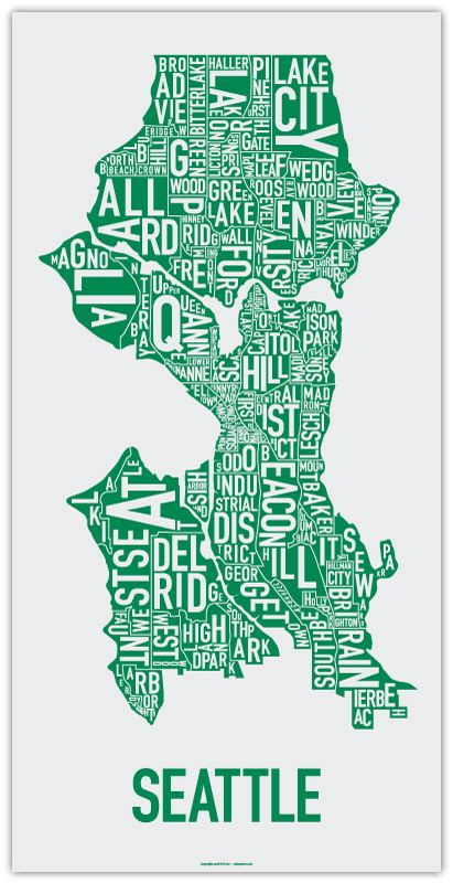 seattle map poster ork posters seattle been
