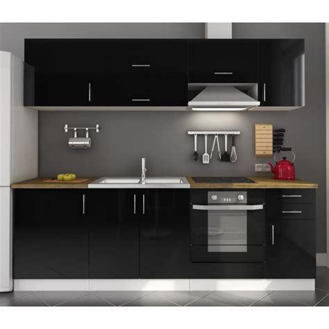 id 233 e meuble de cuisine noir laque
