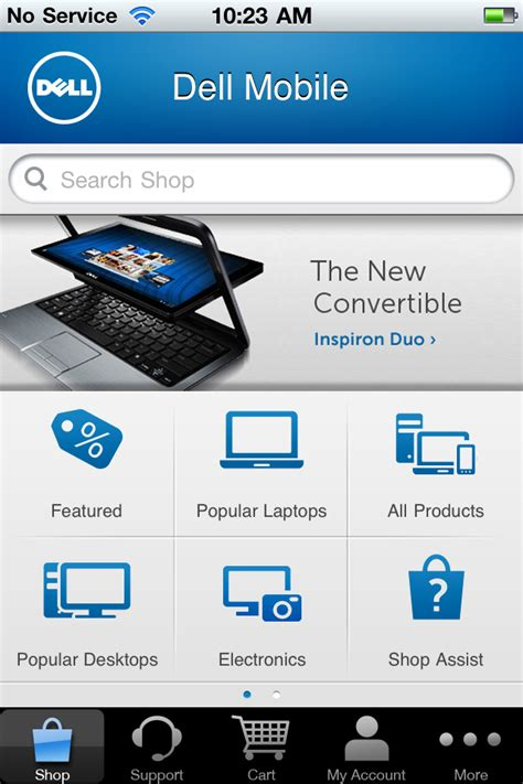 dell shopping support mobile app now available for ios