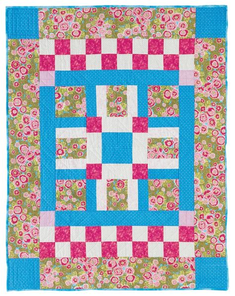 Simple Patchwork Quilts - 26 best basic fast and easy patchwork patterns for